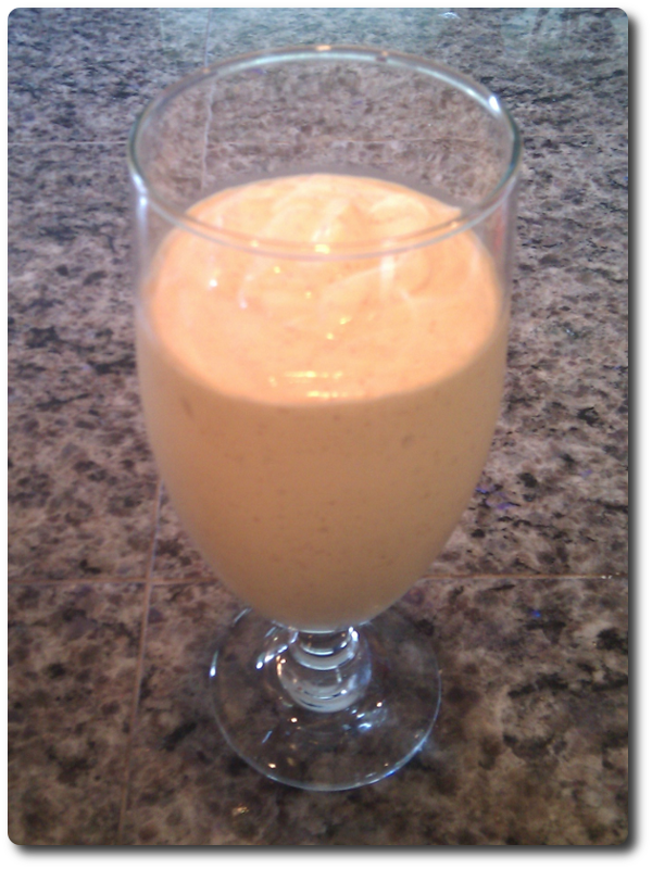 Ginger Peach Nectarine Smoothie Image
